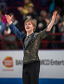 24th March 2018, Mediolanum Forum, Milan, Italy;  Deniss VASILJEVS (LAT) during the ISU World Figure Skating Championships, Men Free Skating at Mediolanum Forum in Milan, Italy
