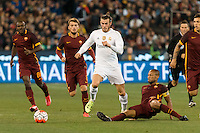 Melbourne, 18 July 2015 - Gareth Bale of Real Madrid runs with the ball in game one of the International Champions Cup match at the Melbourne Cricket Ground, Australia. Roma def Real Madrid 7-6 Penalties. Photo Sydney Low/AsteriskImages.com