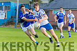 Darragh McElligott KOR in action against Kevin Moriarty St Marys in the Kerry county Football League Div 1 at Strand Road, Tralee on Saturday.