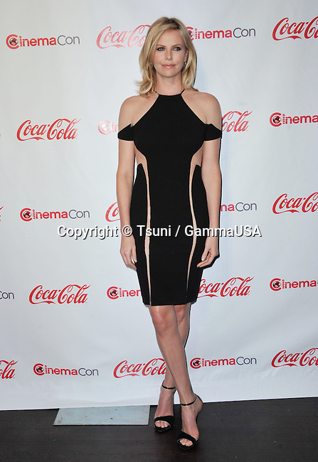 Charlize Theron   at The Cinemacon Awards 2012 at the Caesar Palace in Las Vegas.