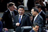 Xi Jinping, China's president, arrives to a closing session at the Nuclear Security Summit in Washington, D.C., U.S., on Friday, April 1, 2016. After a spate of terrorist attacks from Europe to Africa, Obama is rallying international support during the summit for an effort to keep Islamic State and similar groups from obtaining nuclear material and other weapons of mass destruction. <br /> Credit: Andrew Harrer / Pool via CNP