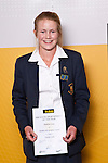 Girls Cricket winner Madeline Green from Epsom Girls Grammar School. ASB College Sport Auckland Secondary School Young Sports Person of the Year Awards held at Eden Park on Thursday 12th of September 2009.