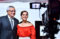 Francois Demachy und Natalie Portman bei der Präsentation des Parfums 'Dior for Love' im Kuafhaus Terrada. Tokio, 19.07.2017