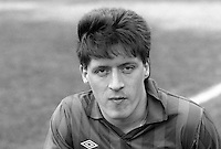 Tommy Kincaid, footballer, Ards FC, N Ireland, 19860302TK<br /> <br /> Copyright Image from Victor Patterson, 54 Dorchester Park, <br /> Belfast, UK, BT9 6RJ<br /> <br /> t1: +44 28 9066 1296 (from Rep of Ireland 048 9066 1296)<br /> t2: +44 28 9002 2446 (from Rep of Ireland 048 9002 2446)<br /> m: +44 7802 353836<br /> <br /> e1: victorpatterson@me.com<br /> e2: victorpatterson@gmail.com<br /> <br /> www.victorpatterson.com<br /> <br /> Please see my Terms and Conditions of Use at VICTORPATTERSON.COM. It is IMPORTANT that you familiarise yourself with them.<br /> <br /> Images used on the Internet must be visibly watermarked i.e. ©VICTORPATTERSON.COM within the body of the image and copyright metadata must not be deleted. Images used on the Internet have a size restriction of 4kbs and are chargeable at the then current NUJ rates.<br /> <br /> This image is only available for the use of the download recipient i.e. television station, newspaper, magazine, book publisher, etc, and must not be passed on to any third party. It is also downloaded on condition that each and every usage is notified within 7 days to victorpatterson@me.com<br /> <br /> The right of Victor Patterson to be identified as the author is asserted in accordance with The Copyright Designs And Patents Act (1988).