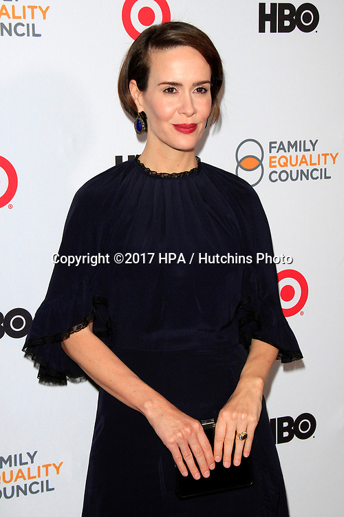 LOS ANGELES - MAR 11:  Sarah Paulson at the Family Equality Council's Annual Impact Awards at the  Beverly Wilshire Hotel on March 11, 2017 in Beverly Hills, CA