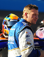 Apr 10, 2008; Avondale, AZ, USA; NASCAR Sprint Cup Series driver Michael McDowell during qualifying for the Subway Fresh Fit 500 at Phoenix International Raceway. Mandatory Credit: Mark J. Rebilas-