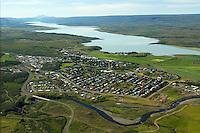 Egilsstaðir séð til suðurs, Fljótsdalshérað / Egilsstadir viewing south, Fljotsdalsherad.