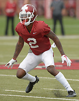 NWA Democrat-Gazette/ANDY SHUPE<br /> Arkansas defensive back Kamren Curl participates Saturday, March 10, 2018, during practice at the university practice field in Fayetteville. Visit nwadg.com/photos to see more photos from practice.