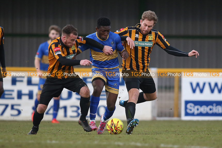 Ayodeji Olukoga of Romford during Romford vs Cheshunt, Ryman League Division 1 North Football at Ship Lane on 28th January 2017