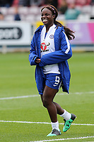 Eniola Aluko of Chelsea in good spirits pre-match in spite of being named as a substitute during Chelsea Ladies vs Liverpool Ladies, FA Women's Super League FA WSL1 Football at Kingsmeadow on 7th October 2017
