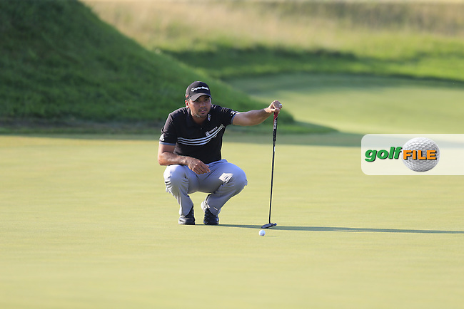 Jason DAY (AUS) lines up his putt on the 17th green during Sunday's Final Round of the 97th US PGA Championship 2015 held at Whistling Straits, Mosel, Kohler, Wisconsin, United States of America. 16/08/2015.<br /> Picture Eoin Clarke, www.golffile.ie