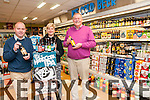 Craft Beer Symposium : Pictured in Stacks Off Licencet, Listowel to announce the Craft Beer Symposium to be held in the Listowel Arms Hotel on Friday night 22nd November as part of Listowel Food Fair were Pierse Walsh, Aoife Hannon & Martin Stack.