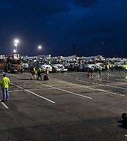 FPL preparing for Hurricane Irma at the Daytona International Speedway staging site Daytona Beach, Fla. on September 10, 2017.
