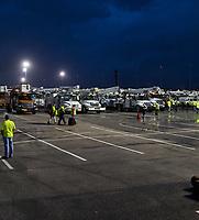 FPL preparing for Hurricane Irma at the Daytona International Speedway staging site Daytona Beach, Fla. on September 10, 2017.