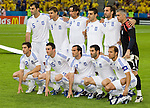 Greece against Sweden at Euro 2008. Back row from left: Traianos Dellas, Angelos Charisteas, Paraskevas Antzas, Kostas Katsouranis, Sotirios Kyrgiakos and Antonios Nikopolidis. Front row from left: Giourkas Seitaridis, Vassilis Torosidis, Theofanis Gekas, Giorgos Karagounis and Angelos Basinas.  Greece-Sweden 06102008, Salzburg, Austria