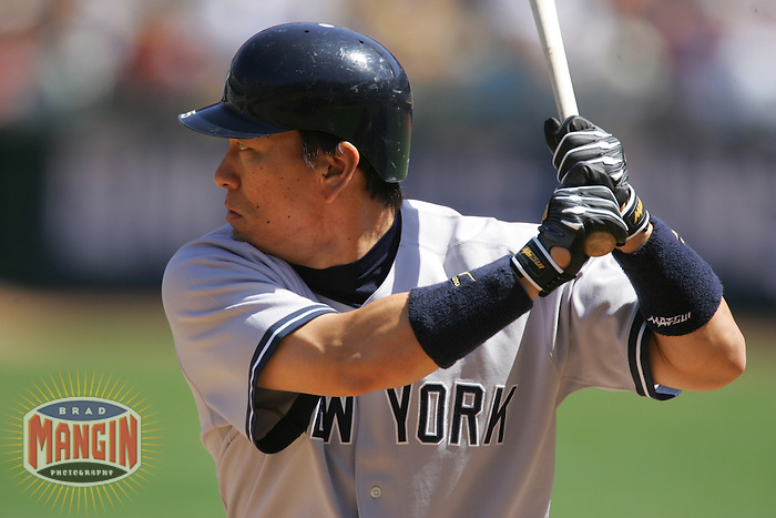 Hideki Matsui. Baseball: New York Yankees vs Oakland Athletics on September 3, 2005 in Oakland.Photo by Brad Mangin