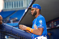 St. Lucie Mets shortstop Amed Rosario (1) signs autographs before a game against the Brevard County Manatees on April 17, 2016 at Tradition Field in Port St. Lucie, Florida.  Brevard County defeated St. Lucie 13-0.  (Mike Janes/Four Seam Images)