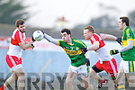 Jack Sherwood Kerry in action against Fergal Doherty Derry in round Two of the National Football league at Fitzgerald Stadium, Killarney on Sunday the 9th of February.