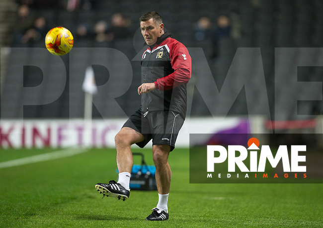 MK Dons Caretaker Manager Richie Barker  during the Sky Bet League 1 match between MK Dons and Chesterfield at stadium:mk, Milton Keynes, England on 22 November 2016. Photo by Andy Rowland.