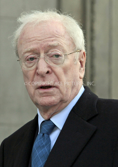 WWW.ACEPIXS.COM....US Sales Only....Sir Michael Caine at the memorial service for Vidal Sassoon at St Pauls Cathedral on October 12 2012  in London ....By Line: Famous/ACE Pictures......ACE Pictures, Inc...tel: 646 769 0430..Email: info@acepixs.com..www.acepixs.com