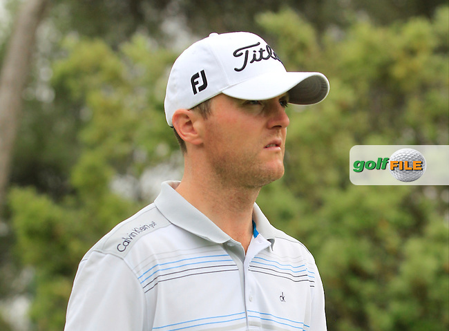 Michael Hoey (NIR) on the 8th tee during Round 1 of the Open de Espana  in Club de Golf el Prat, Barcelona on Thursday 14th May 2015.<br /> Picture:  Thos Caffrey / www.golffile.ie