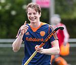 DEN HAAG - De geblesseerde Seve van Ass  voor  de trainingswedstrijd hockey Nederland-Argentinie (1-2).  COPYRIGHT KOEN SUYK