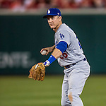 13 October 2016: Los Angeles Dodgers infielder Chase Utley in action during the NLDS Game 5 against the Washington Nationals at Nationals Park in Washington, DC. The Dodgers edged out the Nationals 4-3, to take Game 5, and the Series, 3 games to 2, moving on to the National League Championship against the Chicago Cubs. Mandatory Credit: Ed Wolfstein Photo *** RAW (NEF) Image File Available ***