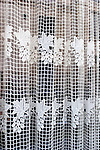 Lace Window Curtains, L'Osteria Restaurant, Paris, France, Europe