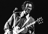 "Chuck Berry - Charles Edward Anderson ""Chuck"" Berry (October 18, 1926 – March 18, 2017)- performing live in London - 1974.  Photo credit: Ian Dickson / IconicPix"