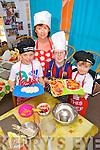 Enjoying the Cookery Camp in Ballybunion on Thursday were: Lochlann McHale, Eoghan O'Halluráin, Ewan McHale with Marie Hanrahan.