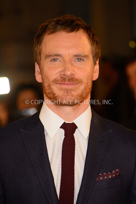 www.acepixs.com<br /> <br /> October 19 2016, London<br /> <br /> Michael Fassbender arriving at the UK premiere of 'The Light Between Oceans' at the Curzon Mayfair on October 19, 2016 in London, England.<br /> <br /> By Line: Famous/ACE Pictures<br /> <br /> <br /> ACE Pictures Inc<br /> Tel: 6467670430<br /> Email: info@acepixs.com<br /> www.acepixs.com