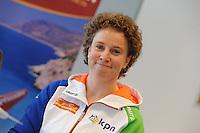 SCHAATSEN: BERLIJN: Holiday Inn, Persconferentie Team Op=Op, 09-03-2012, Team Corendon, trainer/coach Renate Groenewold, ©foto Martin de Jong