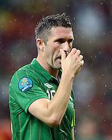 FUSSBALL  EUROPAMEISTERSCHAFT 2012   VORRUNDE Spanien - Irland                     14.06.2012 Robbie Keane (Irland) ist enttaeuscht