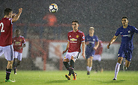 Callum Whelan of Manchester United during the U23 Premier League 2 match between Chelsea and Manchester United at the EBB Stadium, Aldershot, England on 18 September 2017. Photo by Andy Rowland.
