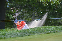 Azahara Munoz (ESP) hits from the trap on 13 during round 2 of the 2018 KPMG Women's PGA Championship, Kemper Lakes Golf Club, at Kildeer, Illinois, USA. 6/29/2018.<br /> Picture: Golffile | Ken Murray<br /> <br /> All photo usage must carry mandatory copyright credit (© Golffile | Ken Murray)