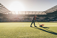 Groundsmen <br /> Re: Behind the Scenes Photographs at the Liberty Stadium ahead of and during the Premier League match between Swansea City and Bournemouth at the Liberty Stadium, Swansea, Wales, UK. Saturday 25 November 2017