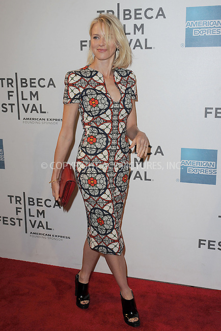 WWW.ACEPIXS.COM . . . . . .April 20, 2013...New York City....Naomi Watts attends the World Premiere of Sunlight Jr. at the Tribeca Film Festival  on April 20, 2013 in New York City.....Please byline: KRISTIN CALLAHAN - WWW.ACEPIXS.COM.. . . . . . ..Ace Pictures, Inc: ..tel: (212) 243 8787 or (646) 769 0430..e-mail: info@acepixs.com..web: http://www.acepixs.com .