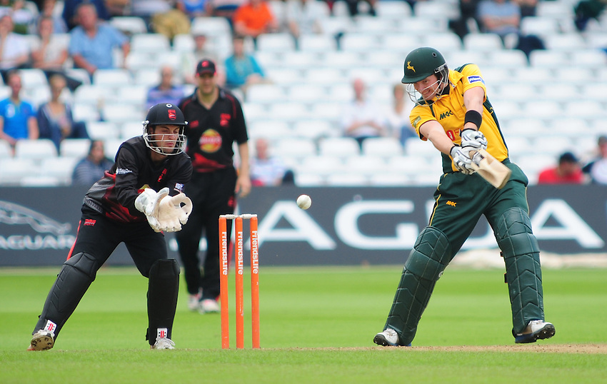 Notts Outlaws' Riki Wessels ..County Cricket - Friends Life t20 - Notts Outlaws v Leicestershire Fozes - Sunday 8th July 2012 - Trent Bridge - Nottingham..