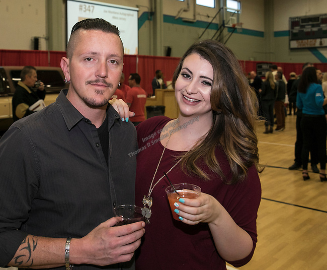Chris Burroughs and Sarah Collin during the Jack T. Reviglio Cioppino Feed & Auction at the Donald W. Reynolds Facility in Reno on Saturday, February 25, 2017.