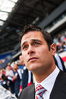 New York Red Bulls head coach Mike Petke. The New York Red Bulls defeated the Philadelphia Union 2-1 during a Major League Soccer (MLS) match at Red Bull Arena in Harrison, NJ, on March 30, 2013.