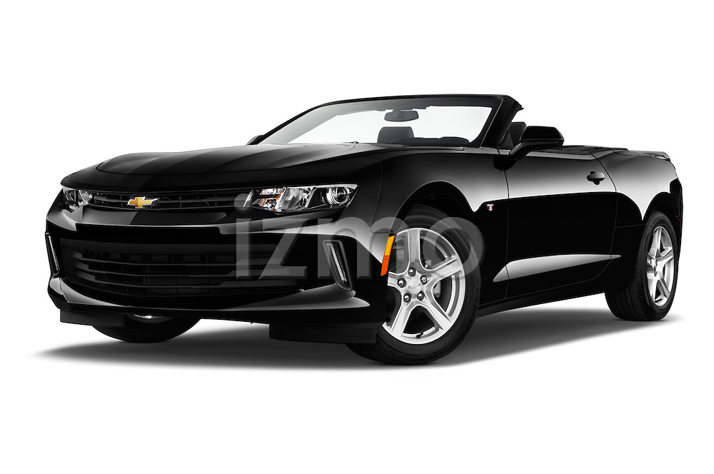 Stock pictures of low aggressive front three quarter view of 2017 Chevrolet Camaro 2LT 2 Door Convertible Low Aggressive