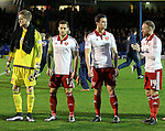 Sheffield United's Billy Sharp and Harrison McGahey look on before the League One match at Roots Hall Stadium.  Photo credit should read: David Klein/Sportimage