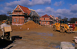 A913RE New private housing estate being constructed Rendlesham Suffolk England