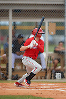 Philadelphia Phillies Hunter Markwardt (26) at bat during an Instructional League game against the Detroit Tigers on September 19, 2019 at Tigertown in Lakeland, Florida.  (Mike Janes/Four Seam Images)