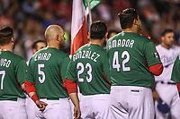 Brandon Laird (5),   Edgar Gonzalez , Japhet Amador. <br /> Aspectos del partido Mexico vs Italia, durante Cl&aacute;sico Mundial de Beisbol en el Estadio de Charros de Jalisco.<br /> Guadalajara Jalisco a 9 Marzo 2017 <br /> Luis Gutierrez/NortePhoto.com