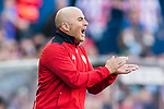 Coach Jorge Luis Sampaoli of Sevilla FC reacts during their La Liga match between Atletico de Madrid and Sevilla FC at the Estadio Vicente Calderon on 19 March 2017 in Madrid, Spain. Photo by Diego Gonzalez Souto / Power Sport Images