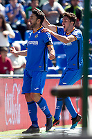 Getafe CF's  Jorge Molina and Jaime Mata celebrate goal  during La Liga match. May 05,2019. (ALTERPHOTOS/Alconada)<br /> Liga Campionato Spagna 2018/2019<br /> Foto Alterphotos / Insidefoto <br /> ITALY ONLY