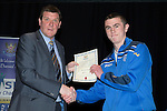 St Johnstone FC Youth Academy Presentation Night at Perth Concert Hall..21.04.14<br /> Manager Tommy Wright presents to Keiran Goold<br /> Picture by Graeme Hart.<br /> Copyright Perthshire Picture Agency<br /> Tel: 01738 623350  Mobile: 07990 594431