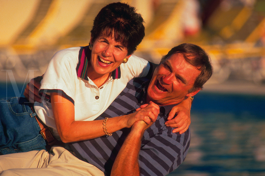 Portrait of an active, happy older couple.