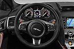 Car pictures of steering wheel view of a 2016 Jaguar F Type S 2 Door Convertible Steering Wheel